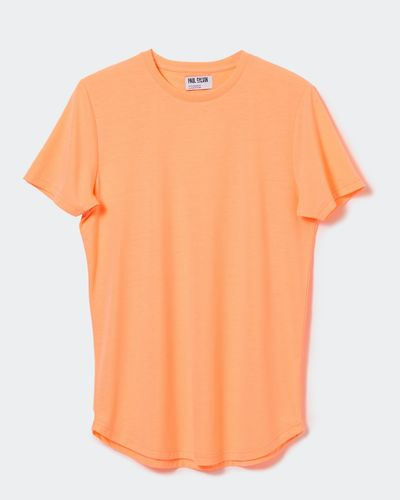Paul Galvin Orange Dipped Hem Tee Shirt