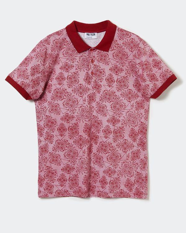 Paul Galvin Printed Polo Shirt
