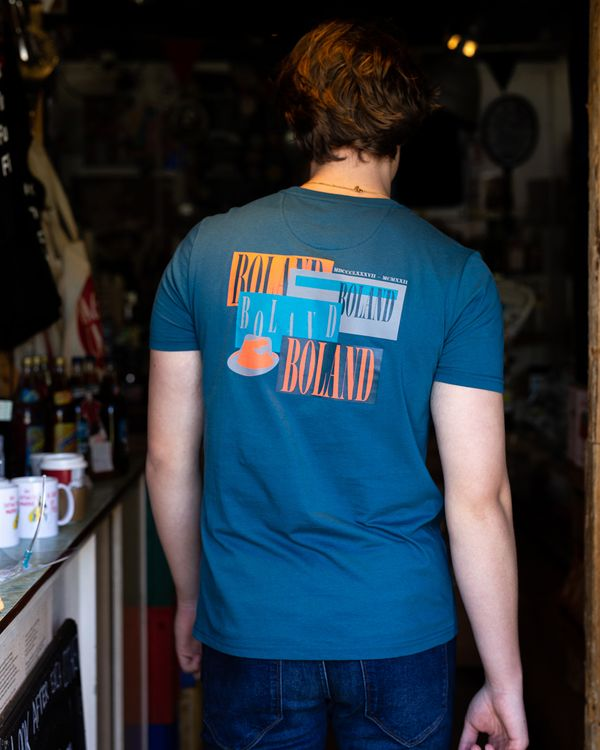 Paul Galvin Teal Printed Tee Shirt