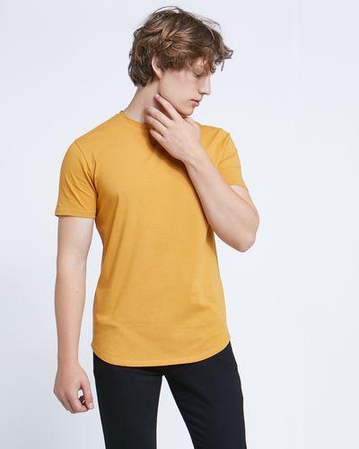 Paul Galvin Short-Sleeved Mustard Stretch Tee Shirt