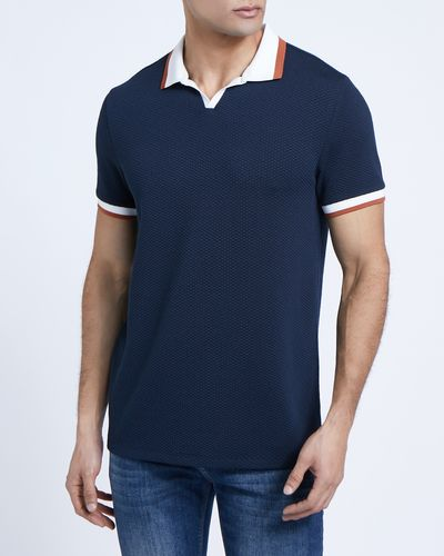 Paul Galvin Navy Notch Neck Polo