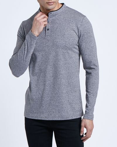 Paul Galvin Long-Sleeved Grey Grindle Top