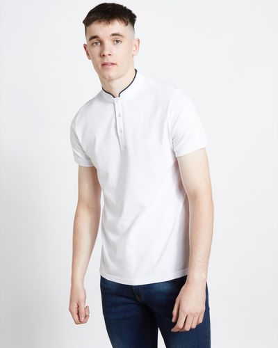 Paul Galvin White Mandarin Polo