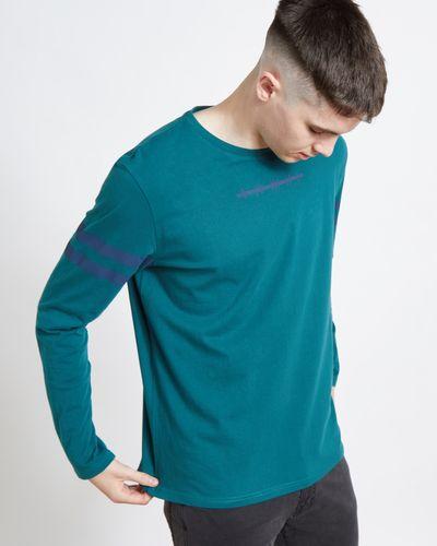 Paul Galvin Green Long Sleeve Printed Tee Shirt