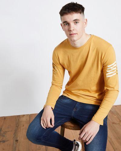 Paul Galvin Yellow Long Sleeve Printed Tee Shirt