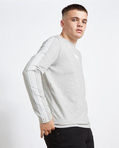Paul Galvin Grey Long Sleeve Printed Tee Shirt