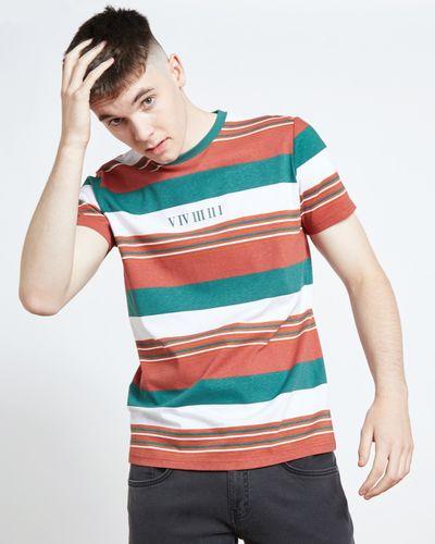 Paul Galvin Red Retro Stripe Tee Shirt