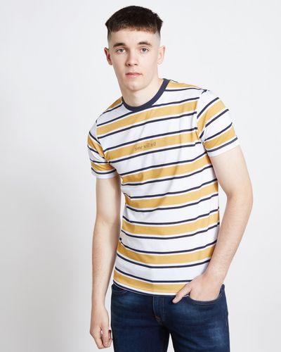 Paul Galvin Mustard Retro Stripe Tee Shirt