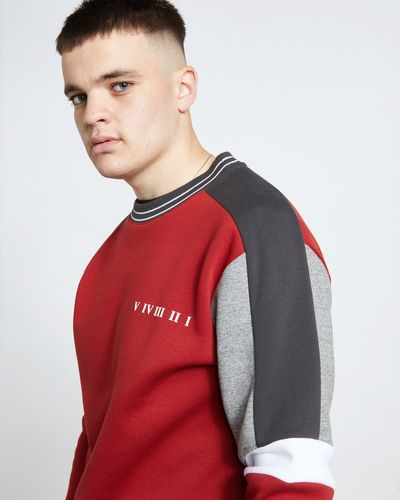 Paul Galvin Red Panel Sweatshirt