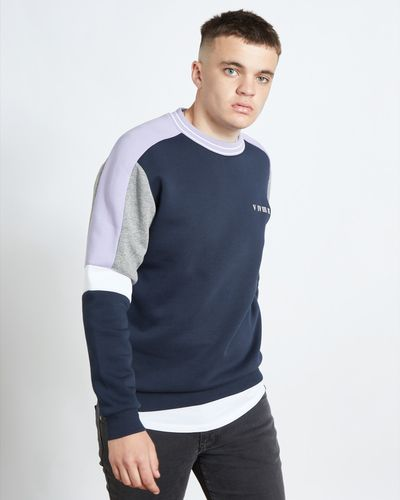Paul Galvin Purple Panel Sweater