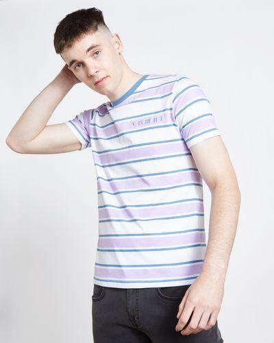 Paul Galvin Purple Retro Stripe Tee Shirt