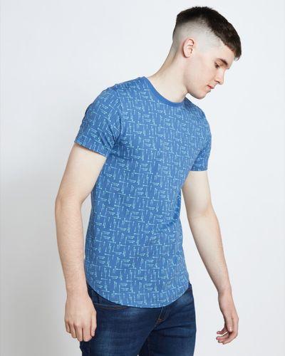 Paul Galvin Print Dip Hem Tee Shirt