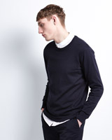 navy Paul Galvin Crew-Neck Knitwear