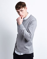 charcoal Paul Galvin Crew Neck Knitwear