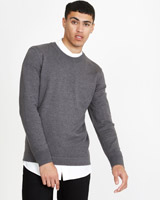 charcoal Paul Galvin Crew-Neck Knit