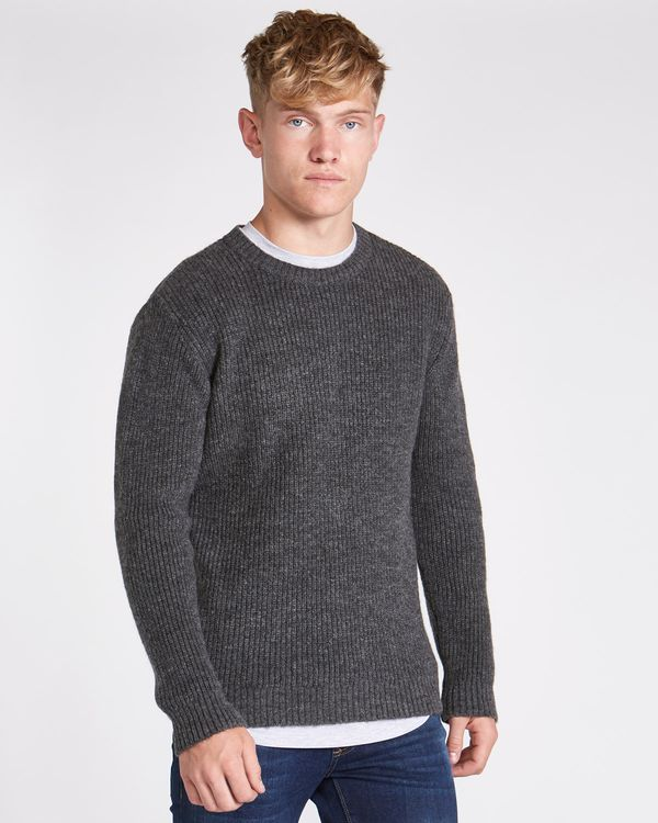 Paul Galvin Charcoal Ribbed Jumper