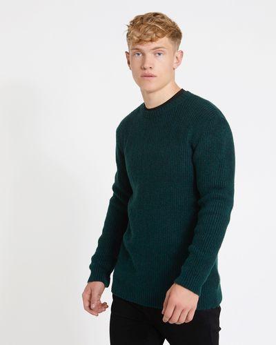Paul Galvin Green Rib Knit Jumper