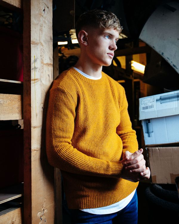 Paul Galvin Mustard Ribbed Jumper