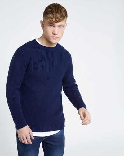 Paul Galvin Navy Rib Knit thumbnail