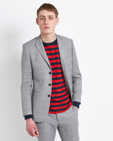 grey-check Paul Galvin Check Blazer