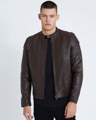 Paul Galvin Brown Leather Jacket
