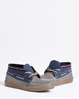 blue Paul Galvin Boat Shoes