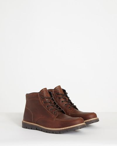 Paul Galvin Biker Leather Boots