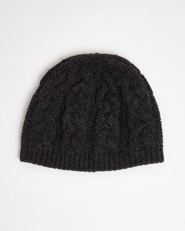 charcoalPaul Galvin Merino Wool Beanie Hat