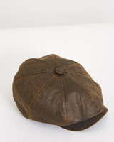 brown Paul Galvin Waxed Eight Panel Hat