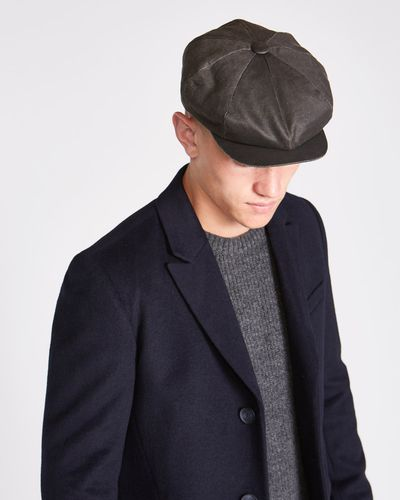Paul Galvin Grey Waxed 8 Panel Hat