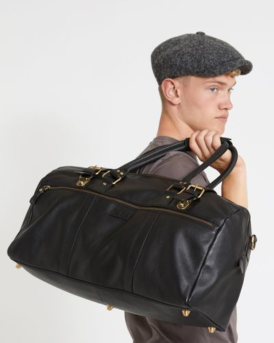 Paul Galvin Black Leather Holdall