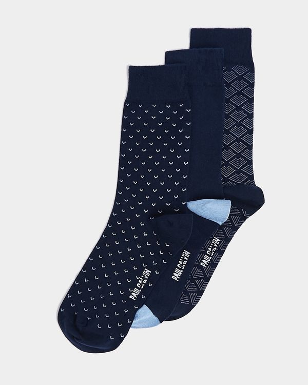 Paul Galvin Navy Boxed Sock - Pack of 3