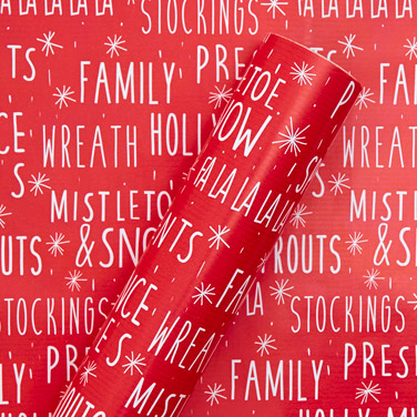 redPrinted Wrapping Paper - 6m