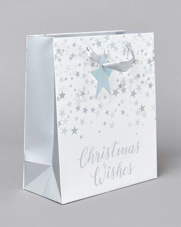 Medium Holographic Xmas Wishes Gift Bag