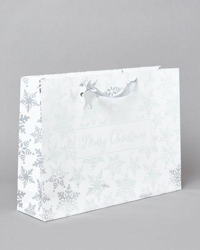 XL Snowflake Shopper Gift Bag thumbnail