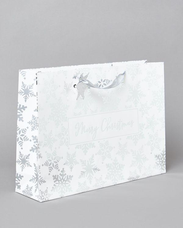 XL Snowflake Shopper Gift Bag
