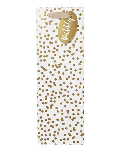 Polka Dot Champagne Bag