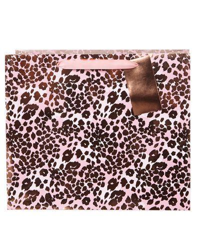 Large Pink Leopard Bag