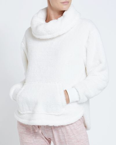 Fluffy Cowl-Neck Top