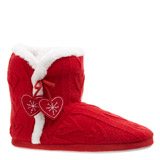 red Red Heart Booties