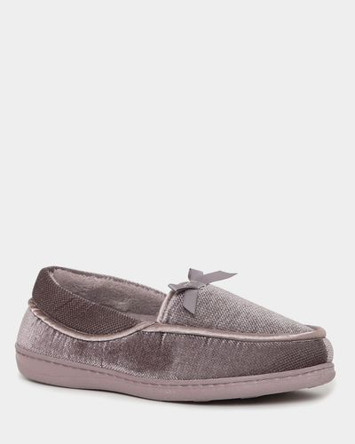Wide Fit Velour Full Slippers