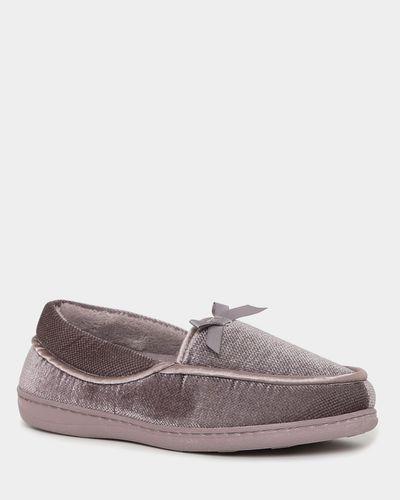 Wide Fit Velour Full Slippers