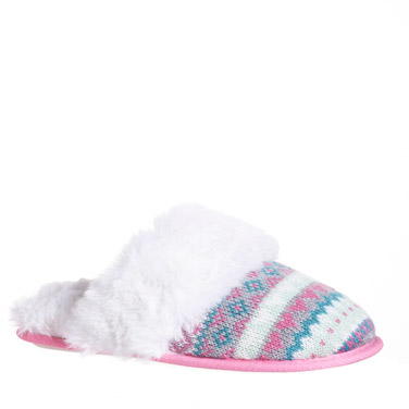 blushAqua Blush Mule Slippers