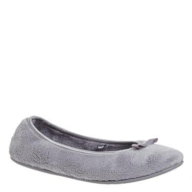 greyTerry Ballerina Slippers