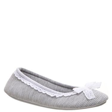 greyCrochet Ballerina Slippers