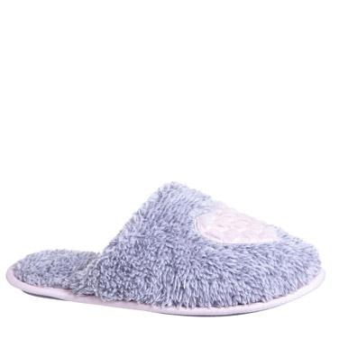 grey-marlHeart Mule Slippers