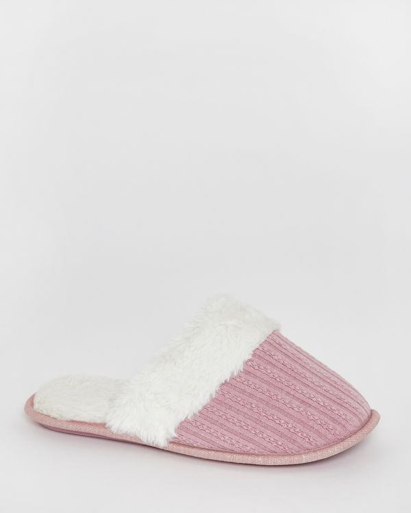 Pointelle Mules