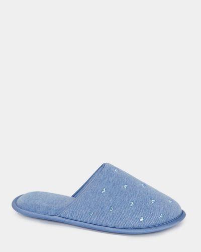 Rib Gum Mule Slippers