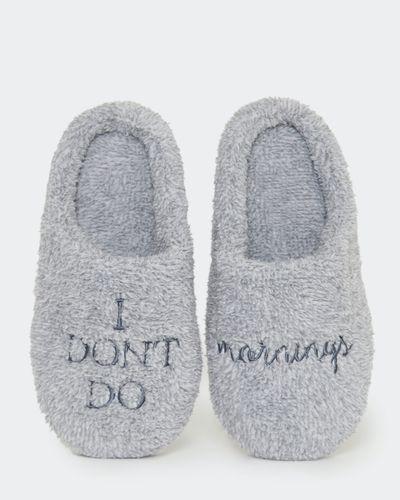 Fluffy Slogan Slippers