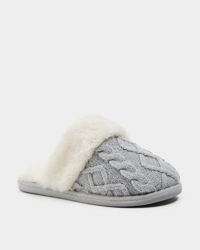 Cable Knit Mule Slipper